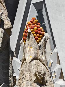 Antoni Gaudí's Basilica of the Sagrada Familia, South-East Side, Barcelona, Spain 2015