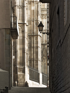 From a narrow passage