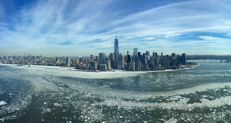 """""""Ice Floes Lower Manhattan"""" (photography) by Christopher Buckley"""