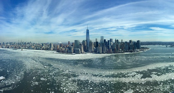 """Ice Floes Lower Manhattan"" (photography) by Christopher Buckley"
