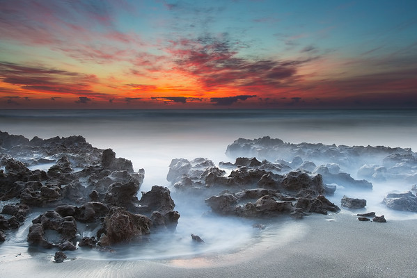 """Sunrise at Coral Cove"" (digital photograph) by Andres Leon"