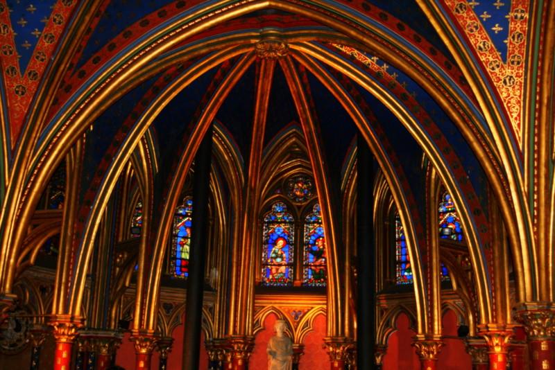 """Sainte Chapelle Lower Chapel"" (digital) by Cynthia Le Pori"