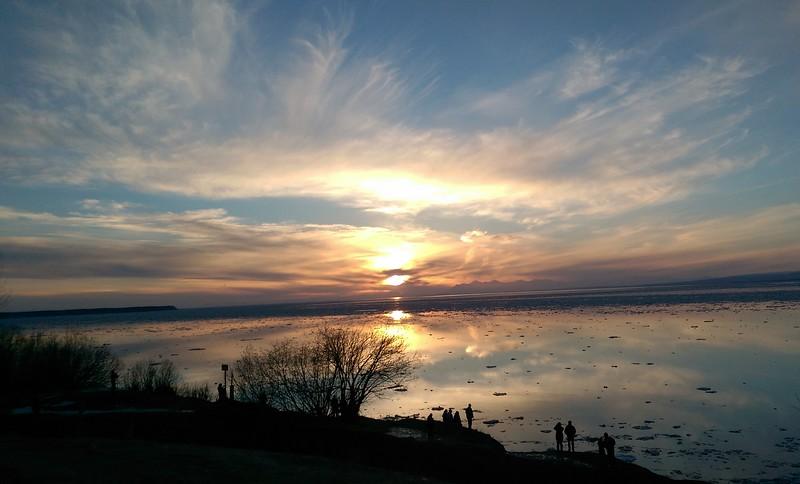 """Alaskan Spring Sunset"" (photography) by Shiree Farmer"