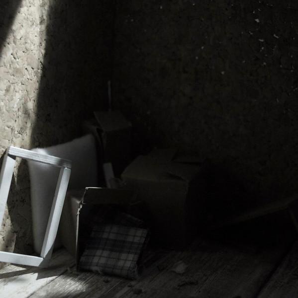 """Attic Dweller"" (photography- mixed media set piece) by Maegan Damazyn"