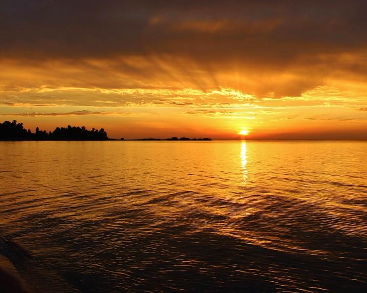 """Golden Sunset"" (digital photography) by Luke Engle"