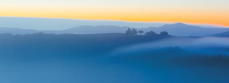 Blue hour over Vitaleta