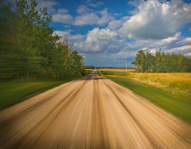 Driving North under a Big Sky