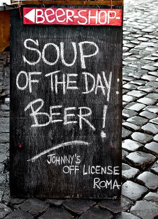 La zuppa del giorno: una birra