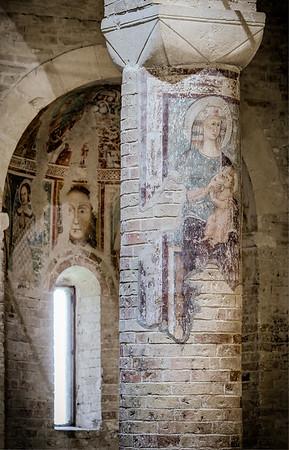 Frescoed column