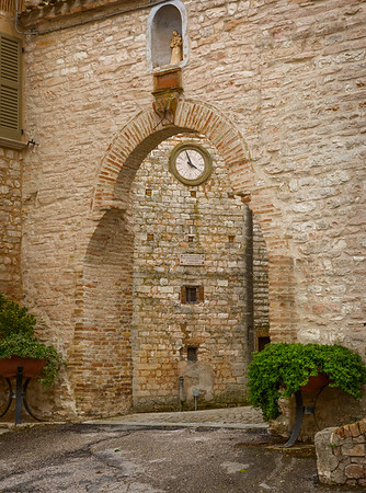 Medieval town entrance