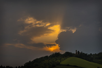 Sunset over San Lorenzino in Colle Alto
