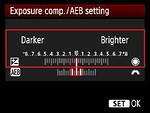 Exposure Compensation Scale