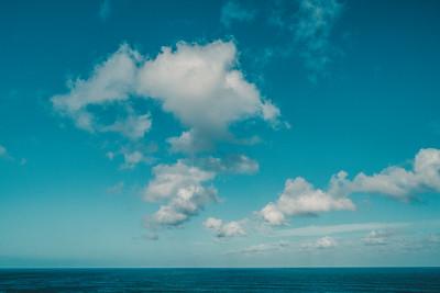 clouds over sea, big island, hawaii