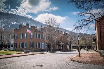 Harper's Ferry WV - Shenandoah Street.  Loudoun Heights in background.