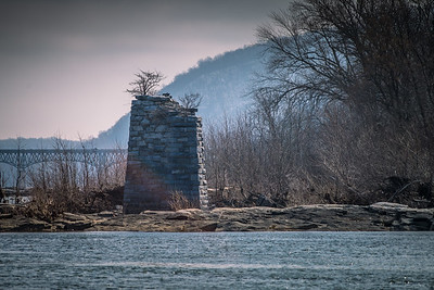 Harper's Ferry WV - Shenandoah River Bridge Ruins
