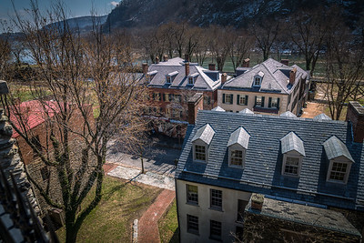 Harper's Ferry WV - View of Shenandoah Street and the Shenandoah River from St Peter's Church.