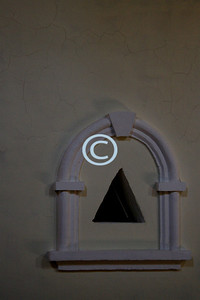 Detail in the Church, Window to the Castle Hall.