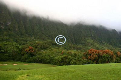"""Ko'olau Golf Course, considered to be """"The World's Most Challenging Golf Course""""."""