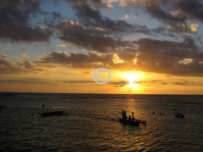 Outrigger Canoe Club Sunset
