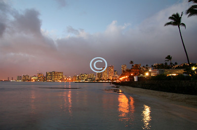 Waikiki Beach Sunrise.