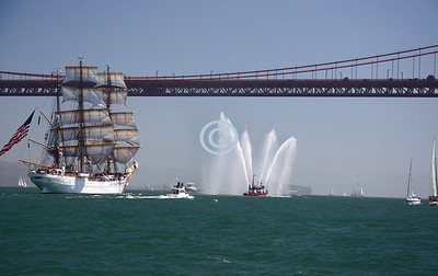 Followed by the 295-foot USCGC EAGLE