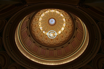 The interior dome of the Capital
