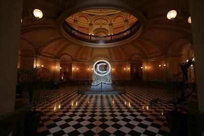 Inside the rotunda of the California State Capital Museum