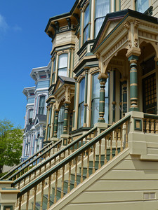 Touring Pacific Heights with its colorful Victorian row houses, famous mansions, and beautiful gardens.