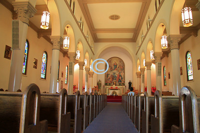 I walked in to see the Church, Our Lady Help of Christians Church in Watsonville, CA.