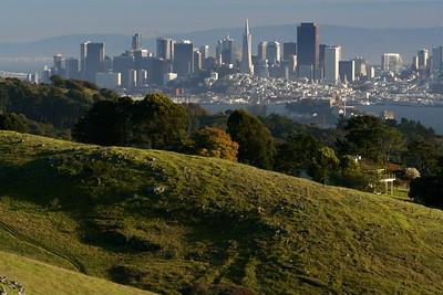 San Francisco Skyline From Marin Hills