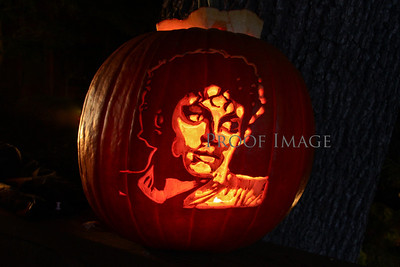 He is still drawing a crowd...everyone I heard, said this was the best carved pumpkin.