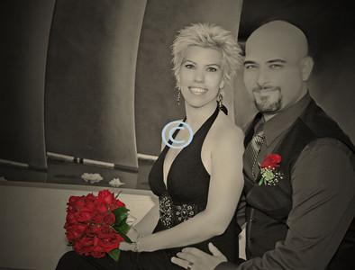 * Jason & Jill - Black & White image painted.
