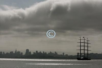 Yacht Skyline Maltese Falcon, Super Yacht, San Francisco Bay