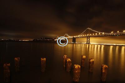 Glowing Jewel San Francisco Bay Bridge