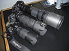 Upper: Nikon D700 with Nikon 200-400 VR lens