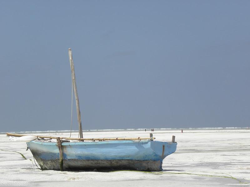Blue Boat in Paje