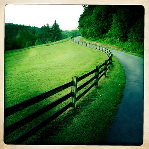 One of the paths at Cone Manor on the Blue Ridge Parkway.