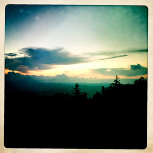 Sunrise from the Blue Ridge Parkway.