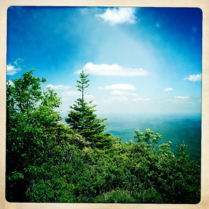 On top of the world. The top of the Rough Ridge trail on the Blue Ridge Parkway.