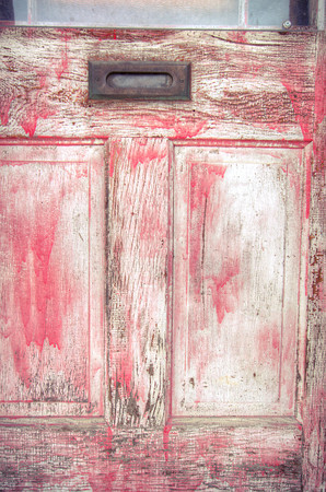 """""""Red Layers""""<br /> Weathered Door, Yukon<br /> September 2013"""
