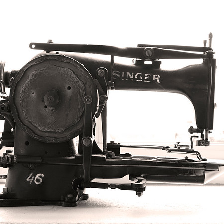 """Sewing Automation #1""<br /> Vintage Sewing Machines, Norway<br /> June 2014"