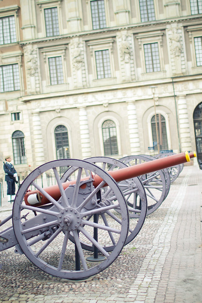 """""""Cannons""""<br /> Royal Palace, Stockholm<br /> June 2014"""
