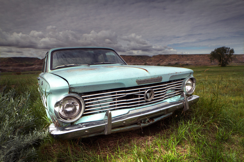 """Aquamarine Car""<br /> Southern Alberta<br /> August 2015"