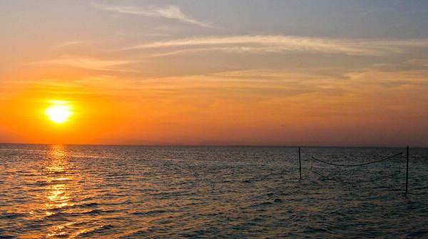 Sea Volleyball Sunset