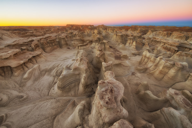 Bisti Wilderness - Clean Dawn Lines