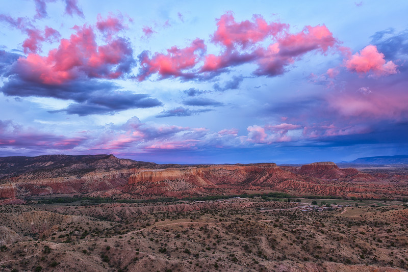 Last Light at Ghost Ranch