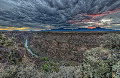 Red Dawn at Rio Grande Gorge