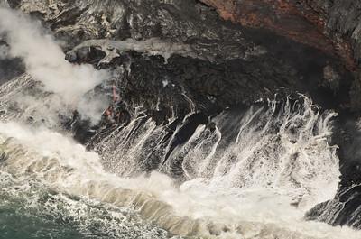 Lava Entry Closeup