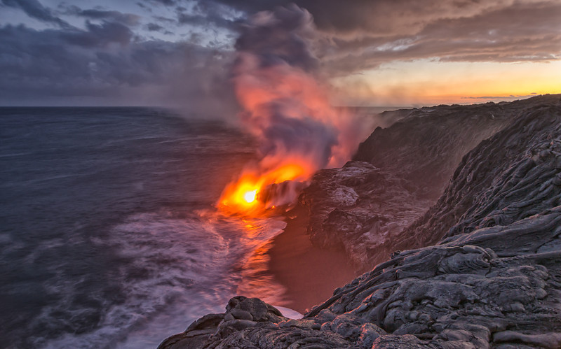 Lava Flowing Smoke