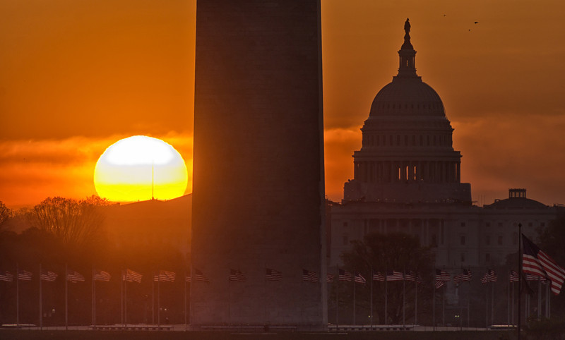 Sunrise over the Capitol